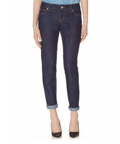 Another great find on #zulily! Dark Blue Boyfriend Jeans #zulilyfinds