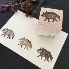 【オオカミさん】パターンスタンプ | ハンドメイド、手作り作品の通販 minne(ミンネ)