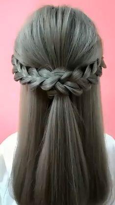 Bun Hairstyles For Long Hair, Braids For Short Hair, Braided Hairstyles, Hairstyle Ideas, Hair Up Styles, Medium Hair Styles, Black Hair Video, Hair Tutorials For Medium Hair, Hair Videos