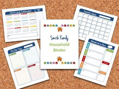 Household Binder Printables Set with Personalized Cover - INSTANT DOWNLOAD. $30.00, via Etsy.