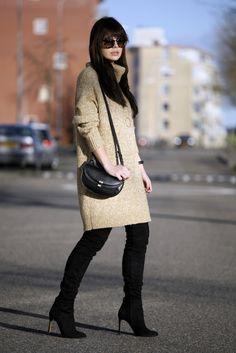 overknee boots knit dress chloe georgia streetstyle fashion blogger