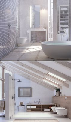 Customize your bathroom design with Geberit. Plus, say goodbye to unsightly pipes and other fixtures//