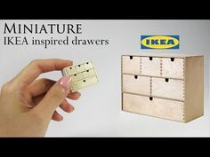 DIY Miniature: IKEA Drawers - YouTube