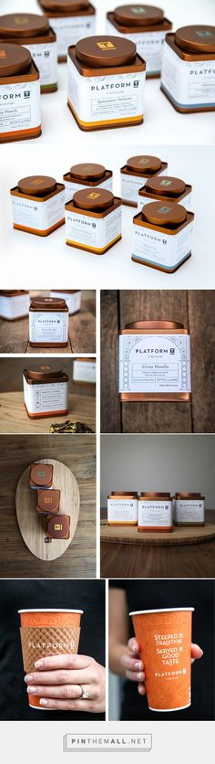 Platform T needed packaging that embodied their fresh take on the tradition of tea. The custom copper tin with stamped logo mark was designed to be sophisticated yet modern. The topographic pattern invites the drinker to dream of travel while the icons and typefaces show the brand's playful nature. The smooth metallic tin contrasts the rustic wood and stone textures of the lounge's interior.