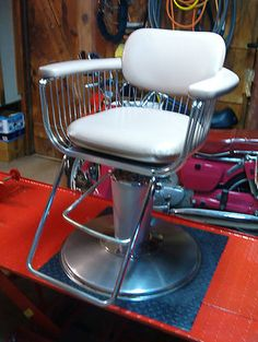 Mid-Century RARE Unusual PLATNER Barber Chair EAMES KNOLL Era