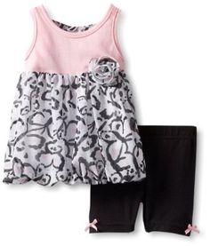 Little Lass Baby-Girls Infant 2 Piece Short Set With Back Detail, Pink, 24 Months Little Lass. $16.00