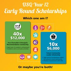 How great would it be knowing you'll have help with the costs of uni before you finish school? Year 12 Early Round Scholarships are offered BEFORE you receive your OP! - USQ