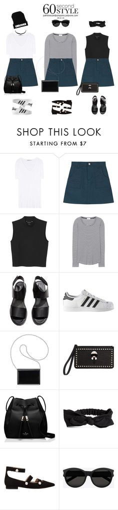 """60 Second Style"" by palmtreesandpompoms ❤ liked on Polyvore featuring T By Alexander Wang, Monki, Closed, H&M, adidas, Nine West, Fendi, Kate Spade, MANGO and Yves Saint Laurent"