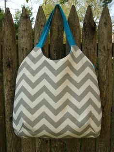 Provence Bag in Chevron by stitch248 on Etsy, $45.00