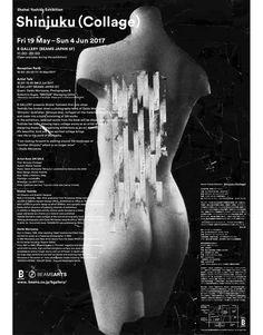 """poster for Shohei Yoshida """"Shinjuku (Collage)"""""""