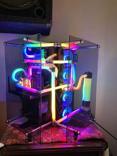 My first Arduino LED project. Gaming Computer Setup, Computer Build, Gaming Room Setup, Pc Setup, Computer Desks, Led Arduino, Build A Pc, Led Projects, Video Game Rooms