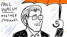 """Paul Walsh of Weather Channel: """"weather is better than sex"""" #pivotcon #doodlely"""