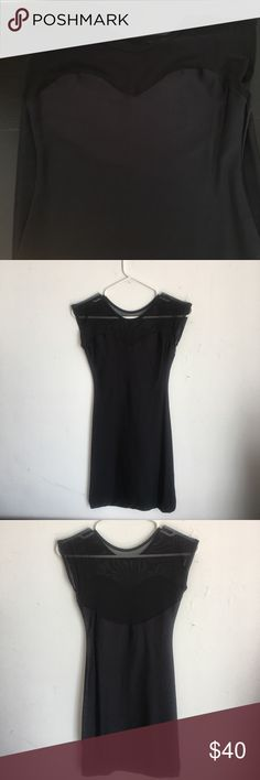 American apparel sweetheart mesh dress American apparel sweetheart mesh dress in black size extra small/small. Very tight fitting. Wore once. I have dogs so there may be a dog hair or two or three on item. Decent condition. No obvious blemishes. American Apparel Dresses Midi