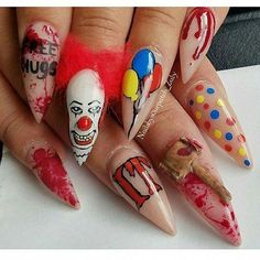 35 Creepy Halloween Nails For The Scary Holiday #holidaynails