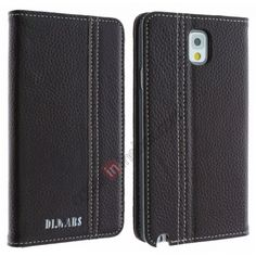 High quality Genuine Cowhide Leather Case for Samsung Galaxy Note 3 N9000 - Coffee US$20.99
