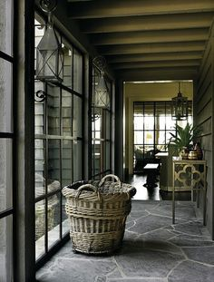 Big Basket In A Hallway | D. Stanley Dixon Architect | House & Home