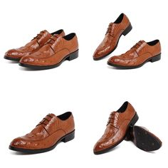 Shoes - Orange Fashion luxury genuine leather crocodile design @runit365 #oxfordshoes #trendy #classy