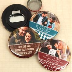Personalized Photo Bottle Opener Favors