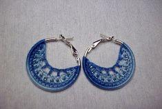 Ideas Hogar...: Pendientes en Crochet paso a paso Ideas Hogar, Crochet Earrings, Jewelry, Fashion, Ear Rings, Chain Stitch, Bugle Beads, Ear Studs, Earrings