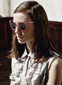 153643b1602 Marine Vacth by Steven Meisel for Miu Miu Spring Summer 2015 Eyewear. The  Real