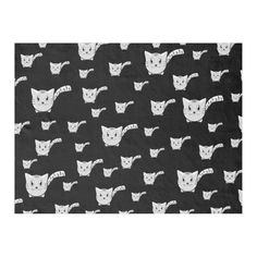 Shop Black & White Kitty Pattern Fleece Blanket created by thepawkinglot. Picnic In The Park, Creature Comforts, Edge Stitch, Outdoor Events, Pet Shop, Mom And Dad, Cuddling, Colorful Backgrounds, Plush