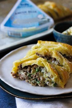 Ground beef blue cheese braided puff pastry! An amazing easy dish you can use as an appetizer or breakfast. Savory simple meal  for any age. My kids love it, your will too. Can be your next party food!