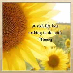 A rich life has nothing to do with money