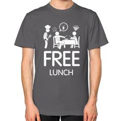 "Free Lunch Men's T-shirt from our ""Freedom"" t-shirt collection Mugs For Men, Shop Usa, American Apparel, Funny Tshirts, Freedom, Lunch, Man Shop, Unisex, Cook"