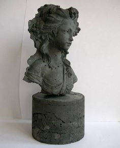 Beautiful Concrete Busts, by artist Kathy Dalwood.... LOVE her work ! #homedecor #bust