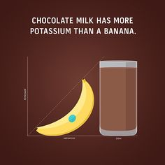After your workout, recover with chocolate milk. Refuel, repair, rehydrate.