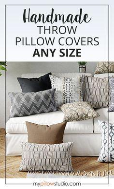 Indoor Pillow Covers - Grey Black Tan Throw Pillow Covers #PillowCovers #Pillows #HomeDecor Couch Pillow Covers, Outdoor Pillow Covers, Pillow Cover Design, Couch Pillows, Living Room Pillows, Living Room Decor, Living Spaces, Designer Pillow, Designer Throw Pillows