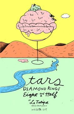 GigPosters.com - Stars - Diamond Rings - Eight And A Half  by Ohara Hale