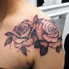 Stunning Floral Shoulder Tattoo Designs You Must Have - Page 46 of 52 - Rose Tattoo Black, Black Tattoos, Body Art Tattoos, Ink Tattoos, Tatoos, Tattoo Ribs, Tattoo Forearm, Rose Tattoos For Women, Shoulder Tattoos For Women