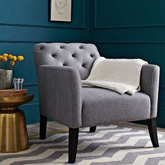 Very sophisticated accent chair for any room in your home!  Comfortable & Stylish!