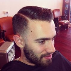Fade pomade hairstyle
