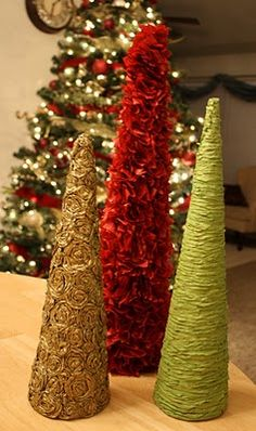 DIY christmas trees.