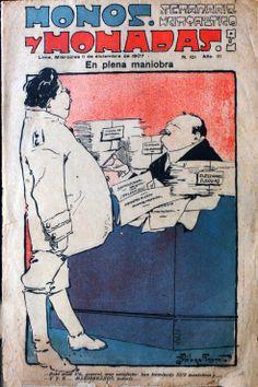 Monos y Monadas #101, carátula de diciembre de 1907, dibujada por Málaga Grenet