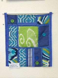 Textile wall hanging created by artist Peggie Williamson.