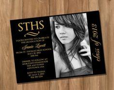 Graduation Invitation / Announcement with Photo - (Digital - DIY)