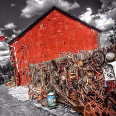If this stuff on the fence was fenced it would no longer be on the fence. #fence #redbarn #norwoodontario #oldestbarnintown #tricycles #bicycles #wheels #woodfence #woodenfence #red #colorsplash #niknaks #antiques #antiquestore #antiqueshopping #ontario #canada #pureontario #canadathenorth #bestofontario #ontariocanada #DiscoverON #LOVES_CANADA_ #canada_gram