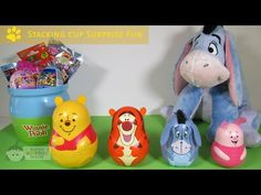 Winnie the Pooh Stacking Cups Surprise Eggs Tigger Eeyore Piglet Huevos ...