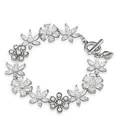 Carolee Debutant Ball Stone Flower Flex Line Bracelet