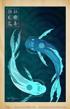 Moon and ocean spirit