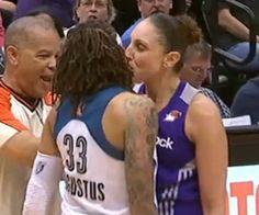 Watch now! Diana Taurasi kisses Seimone Augustus mid-game