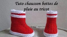 Tuto tricot : Chaussons bottines tricot tuto partie 1 / Pantofole bambino tutorial 1 - YouTube