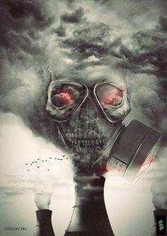 Skull Art by Scary Sky ☠️