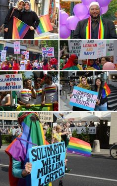 WHAT THE NEWS WON'T SHOW: Muslim Pride + LGBT pride march! United we stand AGAINST Islamophobia and Homophobia!