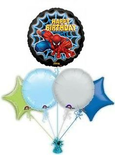 Spiderman Send Balloons Helium Filled Disney Number Birthday