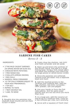 Sardine Fish Cakes Recipe: A Tasty Way to Enjoy Sardines! Not sure how to start eating sardines? Get the health benefits + enjoy sardines the tasty way with this simple, sardine fish cakes recipe! Fish Dishes, Seafood Dishes, Seafood Recipes, Cooking Recipes, Healthy Recipes, Yummy Recipes, Fancy Recipes, Protein Recipes, Salmon Recipes