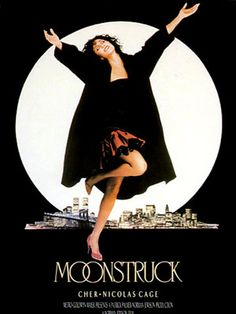 Moonstruck is a 1987 American romantic comedy film directed by Norman Jewison. It stars Cher, Nicolas Cage, Danny Aiello, Vincent Gardenia, and Olympia Dukakis. Nicolas Cage, 80s Movies, Movies To Watch, Good Movies, Indie Movies, Drama Movies, Action Movies, Love Movie, Movie Tv
